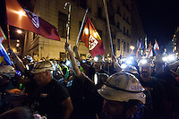 """The countdown has begun. On Monday the so-called """"black march"""" of miners descended on the outskirts of the capital after a grueling advance of some 430 kilometers, often in searing heat. The northern column, which set out from Asturias, Palencia and LeÛn over two weeks ago, reached the suburb of Aravaca on Monday afternoon, where they were greeted by applause and cheers of support from residents."""