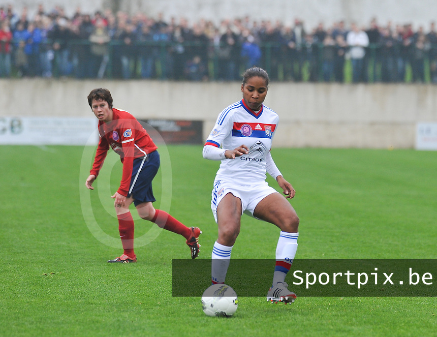1/2 finale Coupe De France in Arras , stade Degouve : Arras - Olympique Lyonnais Lyon : Laura Georges.foto JOKE VUYLSTEKE / Vrouwenteam.be