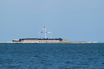 Fort Sumter Charleston South Carolina harbor flags flying high