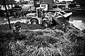 Brzegi near Krakow 19 May 2010 Poland.<br /> A flood crest on the Vistula river passes the city of Crakow. Water's level has reached 931 cm, much more than in 1997 during the Great Flood. One thousand tons of sand were used to strengthen dikes on the river and to secure the city. Several schools have been closed , children were evacuated from two nurseries. Classes were cancelled at the Jagiellonian University. Authorities drew up an evacuation plan in the case of flooding<br /> (Photo by Filip Cwik / Newsweek Poland / Napo Images)<br /> <br /> Brzegi kolo Krakowa 19 maj 2010 Polska.<br /> Przez Krakow przechodzi fala kulminacyjna. Poziom wody wyniosl 931 cm, wiecej niz w 1997 podczas wielkiej powodzi. Podczas zabezpieczenia miasta wykorzystano ok. 1 tys. ton piasku. Zamkniete zostalo kilkanascie szkol, ewakuowano dzieci z dwoch zlobkow. Odwolano zajecia na Uniwersytecie Jagiellonskim. Wladze Krakowa na wypadek wylania Wisly opracowaly plan ewakuacji. <br /> <br /> (fot. Filip Cwik / Newsweek Polska / Napo Images)