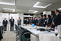 Yoshiro Mori greets his staff of the Tokyo Olympic and Paralympic Games Organizing Committee