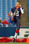 13 November 2005: Buffalo Bills punter Brian Moorman takes some pre-game practice kicks prior to facing the Kansas City Chiefs at Ralph Wilson Stadium in Orchard Park, NY. The Bills defeated the Chiefs 14-3. ..Mandatory Photo Credit: Ed Wolfstein