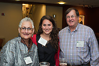 Alumni Executive Committee Reception. Rebecca Bryden, left, Meredith Brydon, class of 2015, Daniel Bryden, M.D.