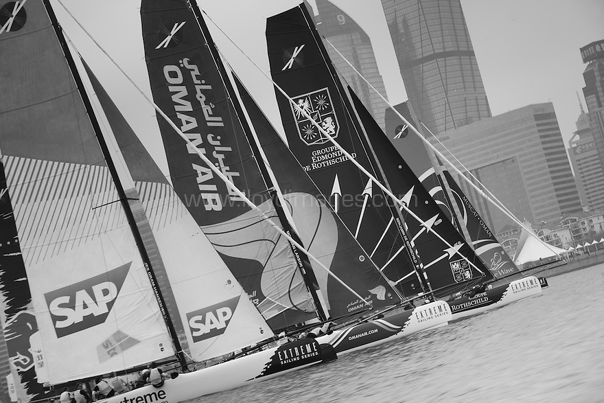 "2012 Extreme sailing Series. Qingdao ""Double Star"" Cup. Act 2 . Qingdao. China. . .Credit: Lloyd Images"