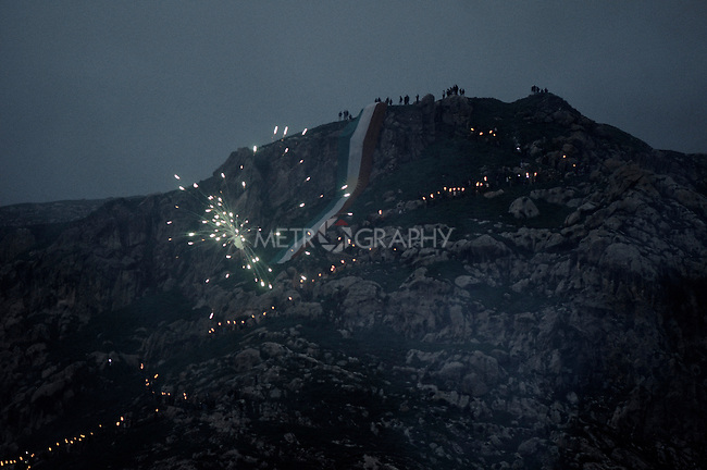 21/03/15 -- Akre, Iraq -- A view of Akre mountain during Newroz Celebrations