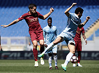 Calcio, Serie A: Roma, stadio Olimpico, 30 aprile 2017.<br /> Lazio's Felipe Anderson (r) in action with AS Roma's Kevin Strootman (l) during the Italian Serie A football match between AS Roma an Lazio at Rome's Olympic stadium, April 30 2017.<br /> UPDATE IMAGES PRESS/Isabella Bonotto