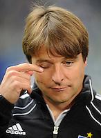 FUSSBALL   1. BUNDESLIGA   SAISON 2011/2012    6. SPIELTAG Hamburger SV - Borussia Moenchengladbach            17.09.2011 Trainer Michael OENNING (Hamburg) enttaeuscht