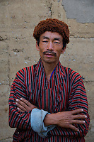 Portraits of people in the Traditional Village of Sopsokha, Punakha District, Bhutan