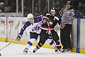 (L to R) .Kisung Kim (KOR), .Go Tanaka (JPN), .MARCH 31, 2012 - Ice Hockey : .Ice Hockey Japan - Korea Exchange Game .between Japan 2-0 South Korea .at DyDo Drink Ice Arena, Tokyo, Japan. .(Photo by YUTAKA/AFLO SPORT) [1040]