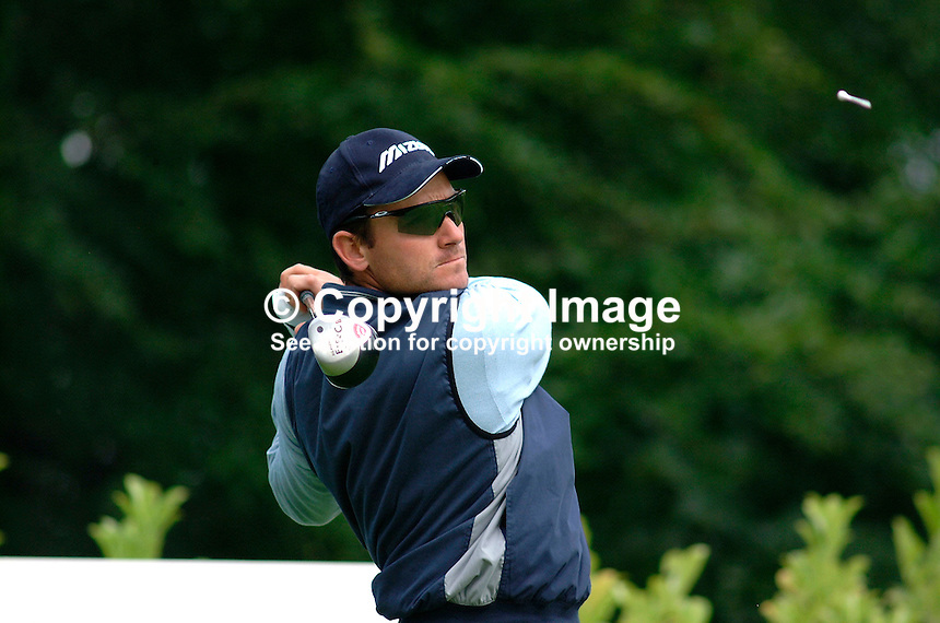 Ignacio Garrido, professional golfer, Spain. Picture taken during practice for the Smurfit European Golf Champsionship at the K Club, Co Kildare, Rep of Ireland. Ref: 200207025598...Copyright Image from Victor Patterson, 54 Dorchester Park, Belfast, UK, BT9 6RJ..Tel: +44 28 9066 1296.Mob: +44 7802 353836.Voicemail +44 20 8816 7153.Skype: victorpattersonbelfast.Email: victorpatterson@mac.com.Email: victorpatterson@ireland.com (back-up)..IMPORTANT: If you wish to use this image or any other of my images please go to www.victorpatterson.com and click on the Terms & Conditions. Then contact me by email or phone with the reference number(s) of the image(s) concerned.