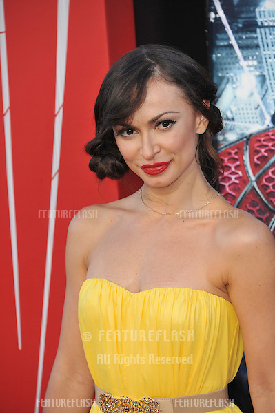 """Karina Smirnoff at the world premiere of """"The Amazing Spider-Man"""" at Regency Village Theatre, Westwood..June 29, 2012  Los Angeles, CA.Picture: Paul Smith / Featureflash"""