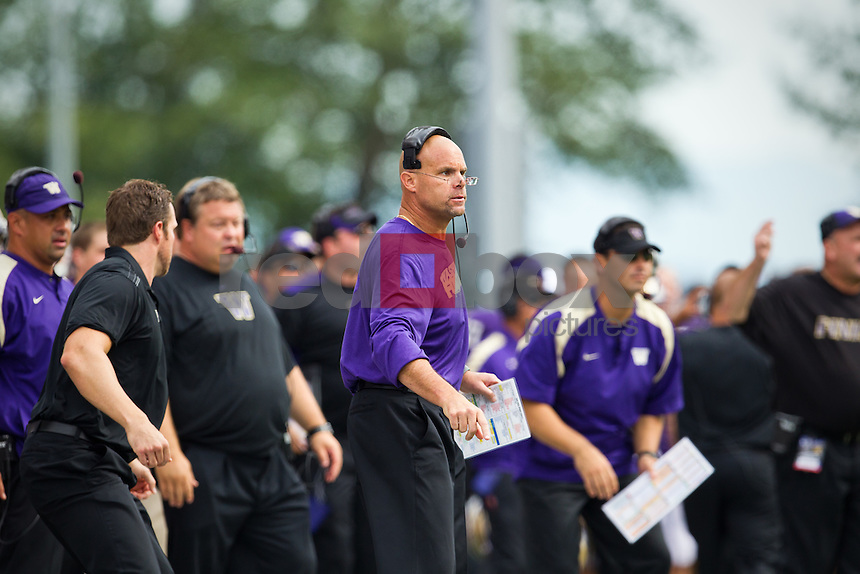 Nick Holt - Assistant Head Coach/Defensive Coordinator..---------University of Washington (UW) vs. University of California-Berkley (Cal) at Husky Stadium on Saturday, September 24, 2011. (Photo by Dan DeLong/Red Box Pictures)