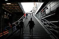 New York, USA. 22nd May, 2014. people walks at pier 92 in Manhattan during the Fleet Week in New York.  Kena Betancur/VIEWpress