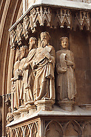 Portal of the Cathedral (Detail); XII Century, Tarragona, Catalonia, Spain; finest example of transitional architecture, contrasting both Romanesque and Gothic aesthetics; Perched on the hilltop of the historical centre, it overlaps the site of a former Roman temple. Picture by Manuel Cohen