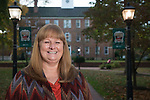 Sheila Schults of Cutler Business Services poses in front of Cutler Hall on October 19, 2016.
