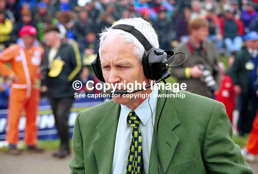Billy Nutt, Coleraine Motor Club, N Ireland - organiser of NW200 Motorcycle Racing Event run on a road circuit including Portstewart, Coleraine and Portrush. 199805002..Copyright Image from Victor Patterson, 54 Dorchester Park, Belfast, UK, BT9 6RJ..Tel: +44 28 9066 1296.Mob: +44 7802 353836.Voicemail +44 20 8816 7153.Skype: victorpattersonbelfast.Email: victorpatterson@mac.com.Email: victorpatterson@ireland.com (back-up)..IMPORTANT: If you wish to use this image or any other of my images please go to www.victorpatterson.com and click on the Terms & Conditions. Then contact me by email or phone with the reference number(s) of the image(s) concerned.