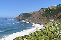View from Highway One, Big Sur Area, California, USA
