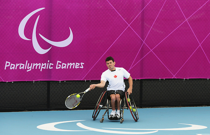 LONDON, ENGLAND – 08/24/2012: Joel Dembe during a training session at the London 2012 Paralympic Games at Eton Manor. (Photo by Matthew Murnaghan/Canadian Paralympic Committee)