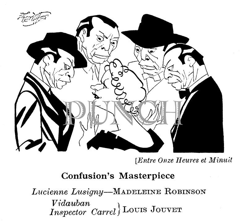 Entre Onze Heures et Minuit ; Madeleine Robinson and Louis Jouvet