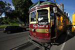 A streetcar stops at an intersection in Melbourne, Australia. Nov. 23, 2012.