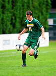 12 September 2010: University of Vermont Catamount midfielder Connor O'Brien, a Senior from Richmond, VT, in action against the Cornell University Big Red at Centennial Field in Burlington, Vermont. The Catamounts defeated the Big Red 2-1. Mandatory Credit: Ed Wolfstein Photo