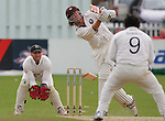JAMES BOARDMAN / 07967642437 - 01444 412089 .Rikki Clarke's bat snaps in two off Mushtaq Ahmed's bowling  during the County Championship match between Sussex and Surrey at Hove today 05/08/2005... .