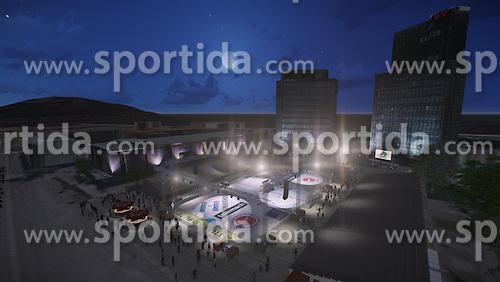 promo material for HDD Telemach Olimpija before winter classic event Icefest 2014 in Hala Tivoli, Ljubljana, on 2nd December 2014. Photo pool by Prozvok / 3DKozin.