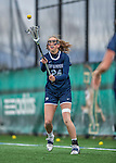 25 April 2015: University of New Hampshire Wildcat Midfielder Teagan Northrup, a Freshman from Longmeadow, MA, in action against the University of Vermont Catamounts at Virtue Field in Burlington, Vermont. The Lady Catamounts defeated the Lady Wildcats 12-10 in the final game of the season, advancing to the America East playoffs. Mandatory Credit: Ed Wolfstein Photo *** RAW (NEF) Image File Available ***
