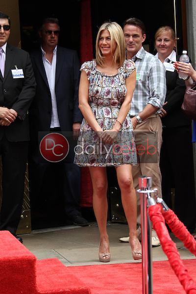 Jennifer Aniston<br /> at Jennifer Aniston's Hand &amp; Footprint Ceremony, Grauman's Chinese Theatre, Hollywood, CA. 07-07-11<br /> David Edwards/DailyCeleb.com 818-249-4998