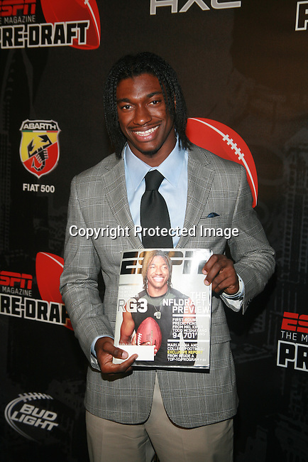 NFL 2012 2nd Overall Draft Pick Robert Griffin Attends ESPN The Magazine Presents the Ninth Annual Pre-Draft Party at The Waterfront,   NY 4/25/12