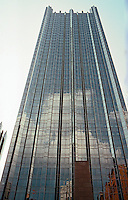 """Philip Johnson & John Burgee: PPG Place, The Tower. 40 stories, 630 ft. """"Inspired by Victoria Tower, House of Parliament.""""   Photo '01."""