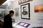 Visitors look around the Lafcadio Hearn museum in Matsue, Shimane Prefecture, Japan on 05 Nov. 2012. Photographer: Robert Gilhooly