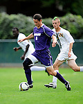 11 September 2009: University of Portland Pilots' forward Ryan Luke (8), a Junior from Bothell, WA, in action against the University of Vermont Catamounts in the first round of the 2009 Morgan Stanley Smith Barney Soccer Classic held at Centennial Field in Burlington, Vermont. The Catamounts and Pilots battled to a 1-1 double-overtime tie. Mandatory Photo Credit: Ed Wolfstein Photo