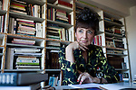 Francoise Morechand works from her home in Tokyo, Japan on Dec. 8 2010.