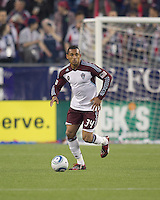 Colorado Rapids defender Tyrone Marshall (34). In a Major League Soccer (MLS) match, the New England Revolution tied the Colorado Rapids, 0-0, at Gillette Stadium on May 7, 2011.