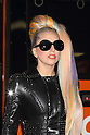 """Lady Gaga arrives at Narita Airport in Japan on Tuesday 8th May, 2012. .Lady Gaga arrived looking glamourous with new rainbow colored hair and a black leather jacket and sunglasses. It is her 6th visit to Japan and she was greeted by many fans at the airport. She will play four nights at Saitama Super Arena as part of her """"The Born This Way Ball"""" world tour."""