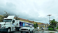 MIRAMAR, FL - OCTOBER 06: A natural gas truck arrive for delivery at Walmart as Hurricane Matthew approaches the area on October 6, 2015 in Miramar, Florida. The hurricane is expected to make landfall sometime this evening or early in the morning as a possible category 4 storm.Credit: MPI10 / MediaPunch