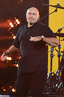 FLUSHING NY- AUGUST 29: Phil Collins perform during open night ceremonys on Arthur Ashe Stadium at the USTA Billie Jean King National Tennis Center on August 29, 2016 in Flushing Queens. Photo byMPI04 / MediaPunch