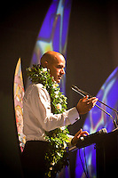 """COOLANGATTA, Australia (Thursday, February 26, 2009) - .2008 World Surfing Champion Kelly Slater (USA)  at the ASP World Champions' Crowning took place tonight at the Gold Coast Convention and Exhibition Centre beginning at 6:30pm.. .Surfing's """"night of nights"""", the ASP World Champions' Crowning, was a gala event, hosting the world's best surfers as well as distinguished figures from the surfing industry in honor of the 2008 ASP World Champions.. .Kelly Slater (USA), 36, reigning and nine-time ASP World Champion, accepted his unprecedented ninth ASP World Title award just days before beginning his hunt for an incredible 10th Crown at the upcoming Quiksilver Pro Gold Coast presented by LG Mobile.. .Stephanie Gilmore (AUS), 21, reigning two-time ASP Women's World Champion, received her second consecutive ASP Women's World Title cup, and the young natural-footer will soon embark on a campaign to make it a three-peat in 2009. Gilmore will begin this weekend at the opening event of the 2009 ASP Women's World Tour season, the Roxy Pro Gold Coast presented by LG Mobile.. .Other ASP Dream Tour athletes  recognized were respective Runner-Ups Bede Durbidge (AUS), 25, and Silvana Lima (BRA), 24, as well as Rookies of the Year Dane Reynolds (USA), 23, and Nicola Atherton (AUS), 22.. .Bonga Perkins (HAW), 36, and Joy Monahan (HAW), 22, took out the ASP World Longboarding and ASP Women's World Longboarding Titles respectively, while Nathaniel Curran (USA), 24, and Sally Fitzgibbons (AUS), 18, took home hardware for their respective No. 1 finishes on the ASP World Qualifying Series last season.. .In addition to honoring the champions from 2008, the ASP World Champions' Crowning also recognized athletes who  earnt the 2008 ASP World Tour 'Most Improved',  a tie between Adrian Buchan (AUS) and Adrian de Souz (BRA) the 2008 ASP Women's World Tour 'Most Improved', the ASP Service to the Sport Award and the prestigious Peter Whittaker Award take out by Tayl"""