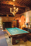 California, San Luis Obispo County: Hearst Castle State Park, formerly the palatial hillside home of publisher William Randoph Hearst. Billiard Room..Photo caluis217-70958..Photo copyright Lee Foster, www.fostertravel.com, 510-549-2202, lee@fostertravel.com