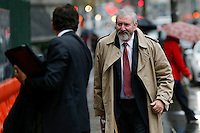Jonathan Blackman, (R ) lawyer for the government of Argentina arrives for the hearing during their ongoing debt issues at the Federal court in lower Manhattan, New York, 12/1/2015 Photo by VIEWpress