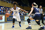 22 November 2016: Duke's Crystal Primm (13) and Old Dominion's Jessica Munoz (4). The Duke University Blue Devils hosted the Old Dominion University Monarchs at Cameron Indoor Stadium in Durham, North Carolina in a 2016-17 NCAA Division I Women's Basketball game. Duke won the game 92-64.