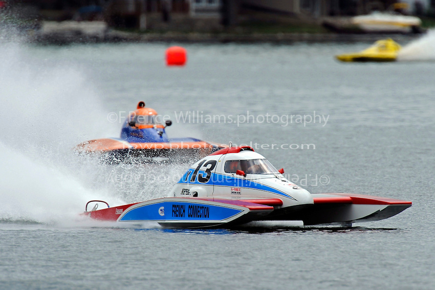 """Joe Sovie, Y-13 """"French Connection"""" and Sean Bowsher Y-52  (1 Litre MOD hydroplane(s)"""