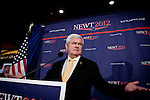 GOP presidential candidate Newt Gingrich speaks at a campaign event at Great Basin Brewing Company in Reno, Nevada, February 1, 2012.