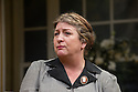 London, UK. 26.03.2014. Theatre Royal Bath Production's West End transfer of RELATIVE VALUES, by Noel Coward, opens at the Harold Pinter Theatre. Picture shows: Caroline Quentin (Moxie). Photograph © Jane Hobson.