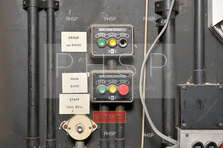 Ballroom switchgear and staff call bell located back stage