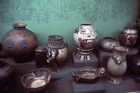 Pre-Columbian ceramics from Guanacaste region on display in the Museo Nacional de Costa Rica, San Jose, Costa Rica