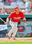 9 March 2012: Philadelphia Phillies infielder Pete Orr in action during a Spring Training game against the Detroit Tigers at Joker Marchant Stadium in Lakeland, Florida. The Phillies defeated the Tigers 7-5 in Grapefruit League action. Mandatory Credit: Ed Wolfstein Photo