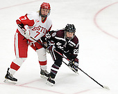 Shannon Stoneburgh (BU - 7), Emma Rambo (Union - 22) - The Boston University Terriers defeated the visiting Union College Dutchwomen 6-2 on Saturday, December 13, 2012, at Walter Brown Arena in Boston, Massachusetts.