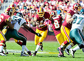 Washington Redskins running back Ryan Torain (46) carries the ball against the Philadelphia Eagles at FedEx Field in Landover, Maryland on Sunday, October 16, 2011.  The Eagles won the game 20 - 13..Credit: Ron Sachs / CNP